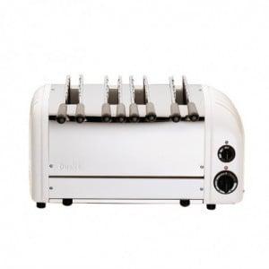 Toaster À Sandwich 4 Fentes Blanc Dualit - 1