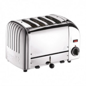 Grille-Pain 4 Tranches Inox - 130 Tranches /H Dualit - 1