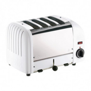 Grille-Pain 4 Tranches Blanc - 130 Tranches /H Dualit - 1