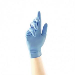 Gants Renforcés Antibactériens En Nitrile Bleu - Taille L - Lot De 100 FourniResto - 1