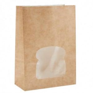 Sacs Sandwich Kraft Recyclables Noirs Avec Fenêtre - Lot De 250 Colpac - 1