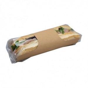 Sachets Baguette Kraft Recyclables Clasp Clip - Lot De 500 Colpac - 1