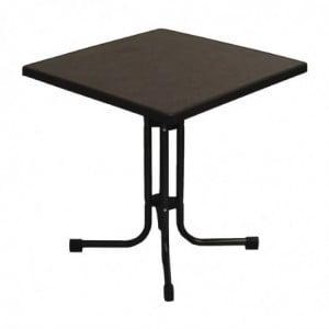 Table De Patio Pliante Limburg Pizarra 70 X 70 Cm FourniResto - 1