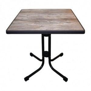Table De Patio Pliante Limburg Vintage 70 X 70 Cm FourniResto - 1