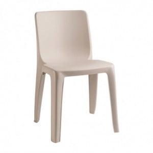 Chaise Empilable D'Extérieur / Intérieur - Beige FourniResto - 1