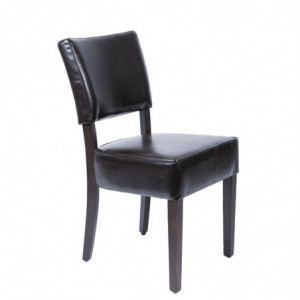 Chaises Confortables En Simili Cuir Marron Foncé Bolero - 1