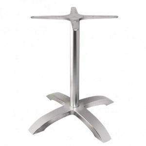 Pied De Table Base 4 Branches Aluminium Brossé Bolero - 1
