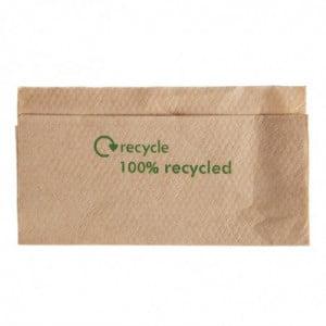 Serviettes 1 Pli En Papier Recyclé 320X 300Mm Avec Distributeur - Lot De 6000 FourniResto - 1