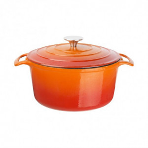 Grande Cocotte Ronde Orange 4L Vogue - 1