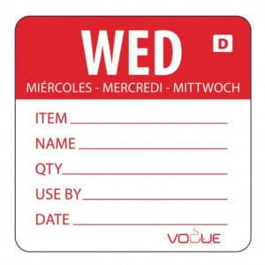 Etiquettes Solubles Jour De La Semaine Mercredi - Rouleau De 250 Vogue - 1