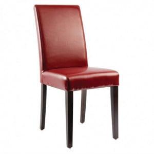 Chaises En Simili Cuir - Rouges Bolero - 1
