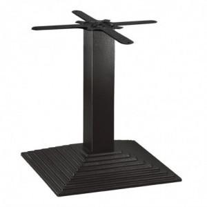 Pied De Table Basse En Fonte Carré Effet Escalier Bolero - 1