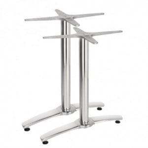 Pied De Table Double Aluminium - Lot De 2 Bolero - 1
