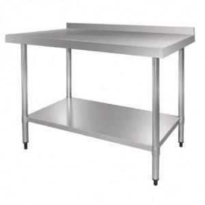 Table Inox Avec Dosseret 600 X 700Mm Vogue - 1