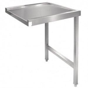 Table De Sortie Droite Pour Lave-Vaisselle À Capot 600Mm Vogue - 1
