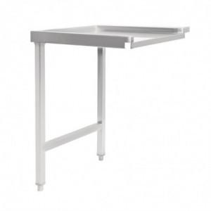Table De Sortie Gauche Pour Lave-Vaisselle À Capot 1100Mm Vogue - 1