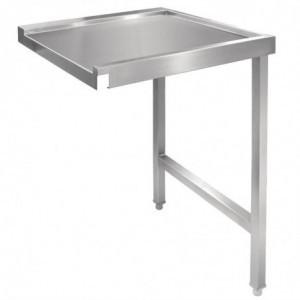 Table De Sortie Droite Pour Lave-Vaisselle À Capot 1100Mm Vogue - 1