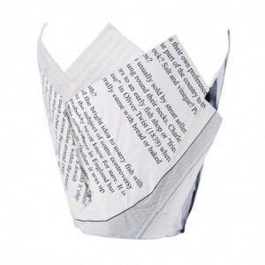 Cornets À Frites Motif Papier Journal - Lot De 1100 FourniResto - 1
