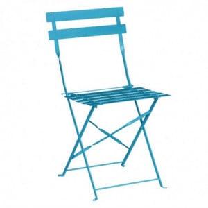 Chaises De Terrasse En Acier - Bleu Turquoise - Lot De 2 Bolero - 1