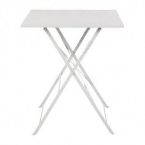 Table De Terrasse Carrée En Acier - Grise - 600Mm Bolero - 1