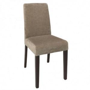 Chaises Beige Avec Assise En Tissu Bolero - 1