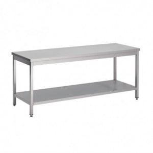Table Inox Avec Étagère Basse 1200 X 600 X 850Mm Gastro M - 1
