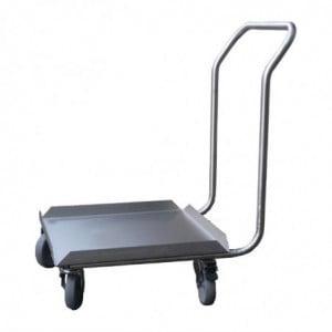 Socle Inox Pour Casiers De Lave-Vaisselle Avec Poignée 500 X 500Mm Gastro M - 1