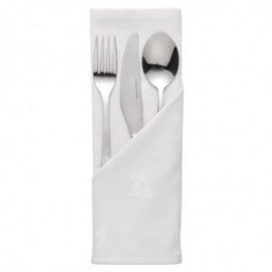 Serviettes Blanches En Coton 550 X 550Mm - Lot De 10 Mitre Luxury - 1