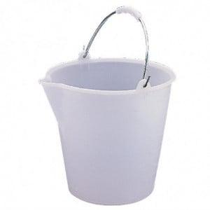 Seau En Plastique Très Résistant Blanc 12L Jantex - 1