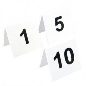 Lot De Numéros De Table En Plastique 1-10 Olympia - 1