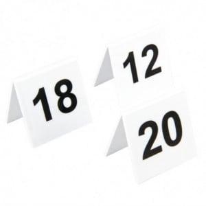 Lot De Numéros De Table En Plastique 11-20 Olympia - 1