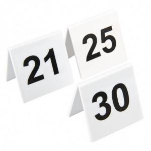 Lot De Numéros De Table En Plastique 21-30 Olympia - 1