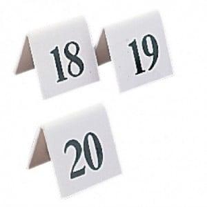 Lot De Numéros De Table En Plastique 31-40 Olympia - 1