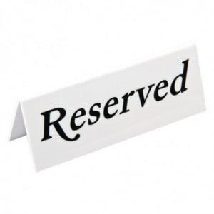 """Chevalet De Table """"Réservé"""" - - Lot De 10 Olympia - 1"""