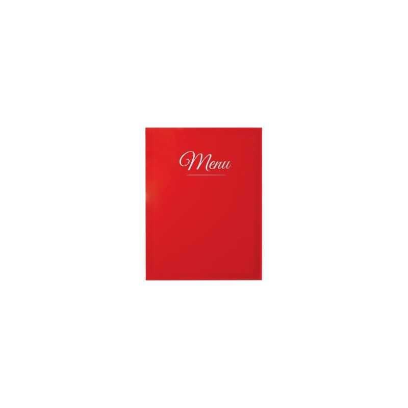 Protège-Menu Classique - Rouge