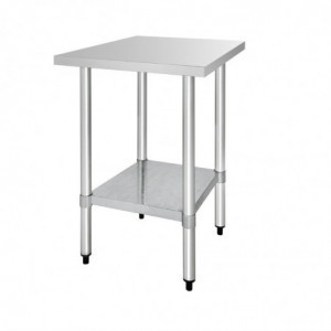 Table De Préparation Inox 1500 X 600Mm Vogue - 1