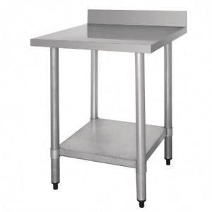 Table De Préparation Inox Avec Dosseret 600 X 600Mm Vogue - 1