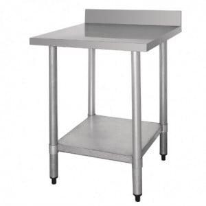 Table De Préparation Inox Avec Dosseret 900 X 600Mm Vogue - 1