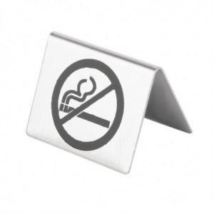 """Chevalet De Table En Inox """" Non Fumeur"""" Olympia - 1"""