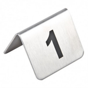 Numéros De Table En Acier Inoxydable 1 À 10 Olympia - 1