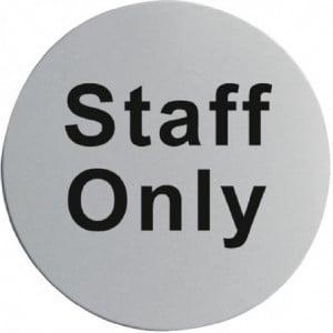 "Signalétique De Porte Inox ""Staff Only"" FourniResto - 1"