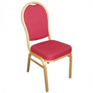 Chaise De Banquet Rouge - Lot De 4 Bolero - 1