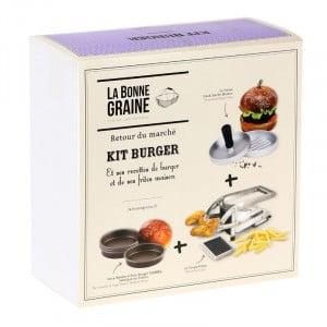 Kit Burger avec Presse Steak Haché, Moules à Pain Burger et Coupe-Frites Tellier - 1