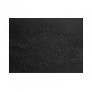 Set De Table Rectangulaire En Cuir Noir Grainé Cos - 45X30 Cm Lacor - 1