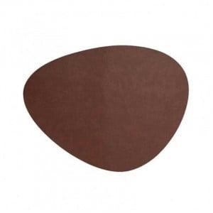 Set De Table En Cuir Oval Marron Milos - 45 X 35 Cm Lacor - 1