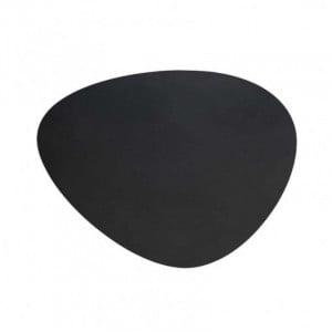 Set De Table En Cuir Oval Anthracite Creta - 45 X 35 Cm Lacor - 1
