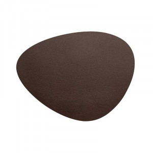 Set De Table En Cuir Oval Marron Grainé Rinia - 45 X 35 Cm Lacor - 1