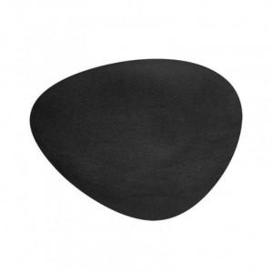 Set De Table En Cuir Oval Noir Grainé Cos - 45 X 35 Cm Lacor - 1