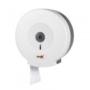 Distributeur de Papier Toilette Blanc pour Bobine 250-300 mm FourniResto - 1