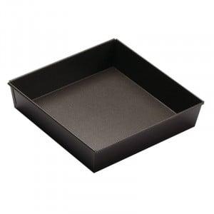 Moule à Manqué Carré Fond Fixe - 22 x 22 cm Tellier - 1